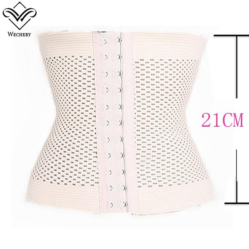 Wechery Slimming Underwear Waist Trainer Corset Slimmer Breathable Belly Belt Elastic Hole Seamless Abdomen Tummy Slimming Belts