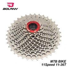 BOLANY Bicycle Cassette 11 Speed 11-36T Freewheel Silver Steel Bike MTB Sprocket Flywheel For Mountain Bike Compatible Shimano shimano hg50 hg500 10 speed m6000 mtb cassette mountain bike bicycle freewheel hg 500 10 11 36t 11 42t