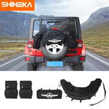 SHINEKA Stowing Tidying for Jeep Wrangler JK TJ JL YJ CJ Spare Tire Bag Multi Functional Outdoor Storage Rear Trunk Bag цены онлайн