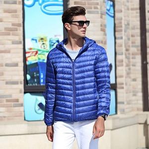 Image 3 - Airgracias 2017 Новое поступление белая утка Пух куртка Для мужчин осень зима теплое пальто Для мужчин свет тонкий утка пуховое пальто LM005