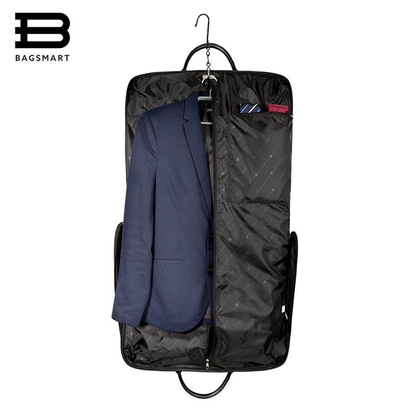 9bc838a88c3c BAGSMART Waterproof Black Nylon Gown Garment Bag for traveling With Handle  Lightweight Suit Bag Business Men Ravel Bags for Suit-in Travel Bags from  Luggage ...