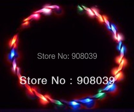 """Free shipping 36"""" / 90cm LED Glow Hula Hoop 24 LED 7 colors Performance Hoop Sports Toys Loose Weight"""