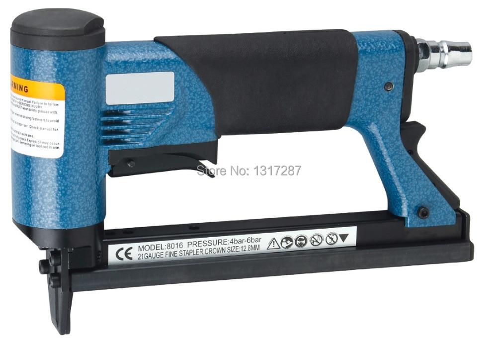 """空気ステープラーFS8016-C 1/2 """"空気圧微細クラウンステープラー、Uスタイルの釘、釘の長さ:6-16mm 4-6BAR 60-100psi"""