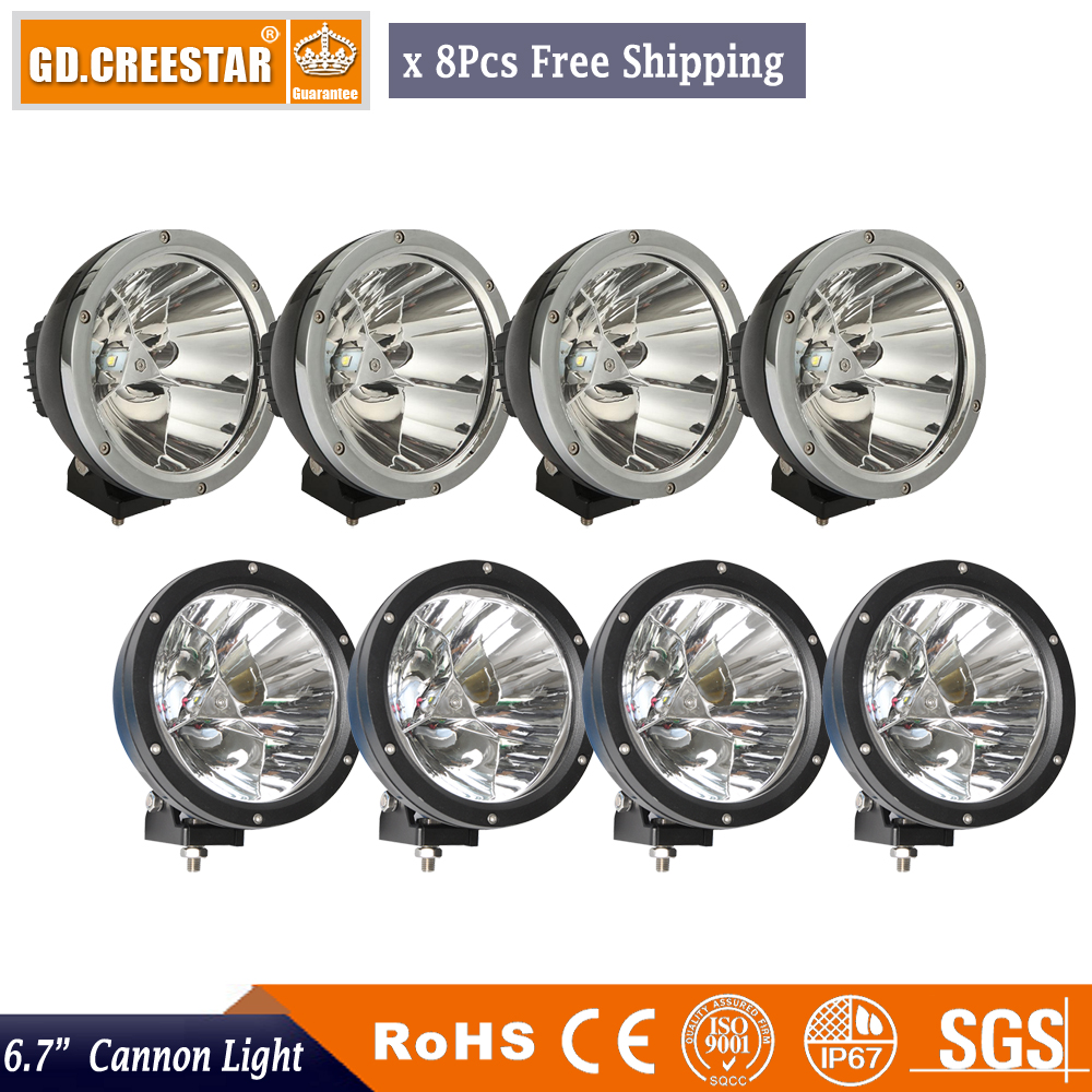 WholeSale 8pcs 7inch 45w Led Driving Light Spot Fog Lamp For Offroad Machinery 4wd Atv Suv Use Truck Headlight 4x4 cannon light 2pcs 36w 7 led light bar spot beam offroad driving light 12v 24v 4x4 truck for atv spotlight fog lamp