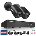 ANNKE 4CH 1080N TVI 4in1 DVR 1500TVL 720P Video Outdoor and Indoor Home Security Camera System