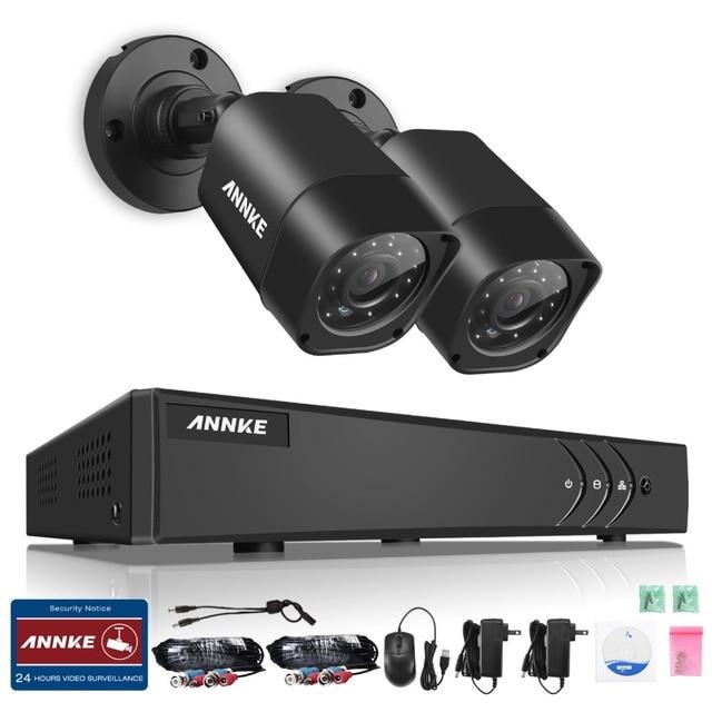 Annke 4ch 1080n tvi 4en1 1500tvl 720 p video al aire libre y de interior de la seguridad casera dvr sistema de cámara