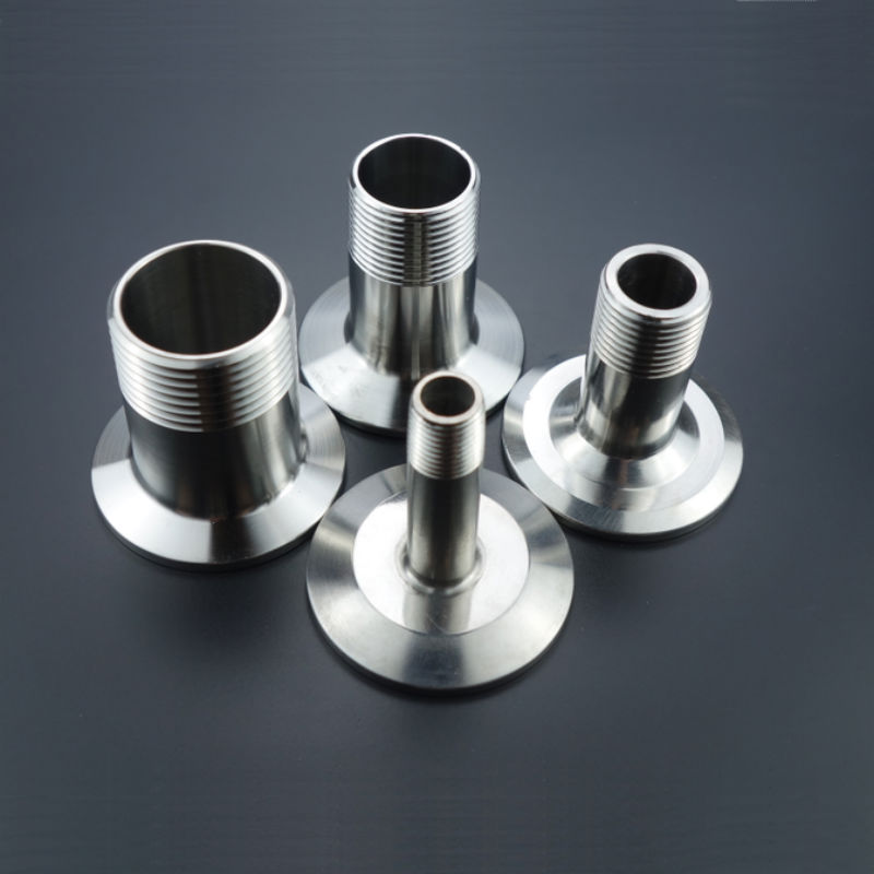 Sanitary Male Threaded Ferrule Pipe Fitting Tri Clamp Type Stainless Steel SS304 DN15 DN20 DN25 DN32 DN40