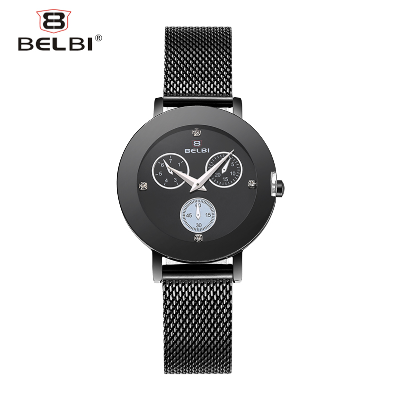 BELBI Top Brand Luxury Women Watch Fashion Dress Stainless Steel Mesh Quartz Lady Wristwatch Hot Sale Rhinestone Boutique ClockBELBI Top Brand Luxury Women Watch Fashion Dress Stainless Steel Mesh Quartz Lady Wristwatch Hot Sale Rhinestone Boutique Clock