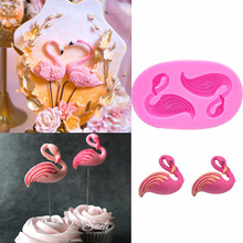 Flamingo Fondant Cake Mold Silicone Baking Bakeware Valentines Day Decoration Mould Cupcake Topper