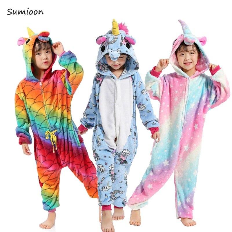 Affidabile Bambini Kigurumi Unicorn Pigiami Delle Ragazze Pigiama Anime Panda Totoro Tutina Bambini Costume Licorne Ragazzi Degli Indumenti Da Notte Del Bambino Della Tuta Styling Aggiornato
