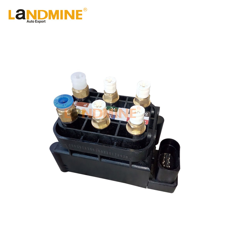 Free Shipping 2010-2014 Air Suspension Control Valve Unit Suspension Air Supply Solenoid Valve Block Fit <font><b>Audi</b></font> <font><b>A8</b></font> <font><b>4H</b></font> 4H0616013 image