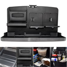Stable Folding Design Universal Black Car Food Tray Folding Dining Table Drink Holder Car Pallet Car stowing tidying