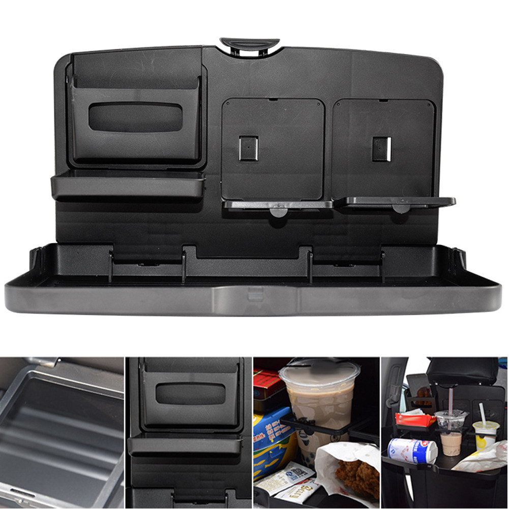 Le Folding Design Universal Black Car Food Tray Dining Table Drink Holder Pallet Stowing Tidying In Drinks Holders From Automobiles