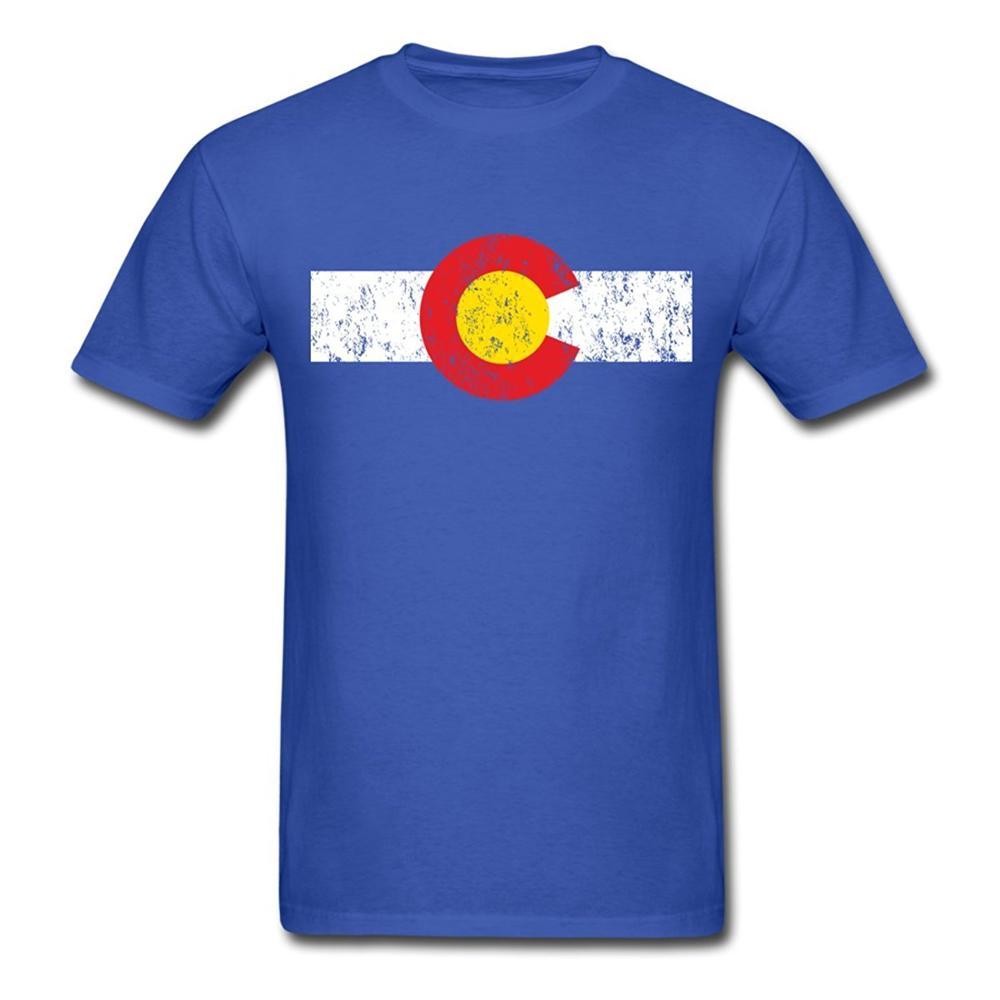 Black flag t shirt vintage - Vintage Colorado Flag Men S T Shirt Black Cotton T Shirt Mens 100 Cotton Plus