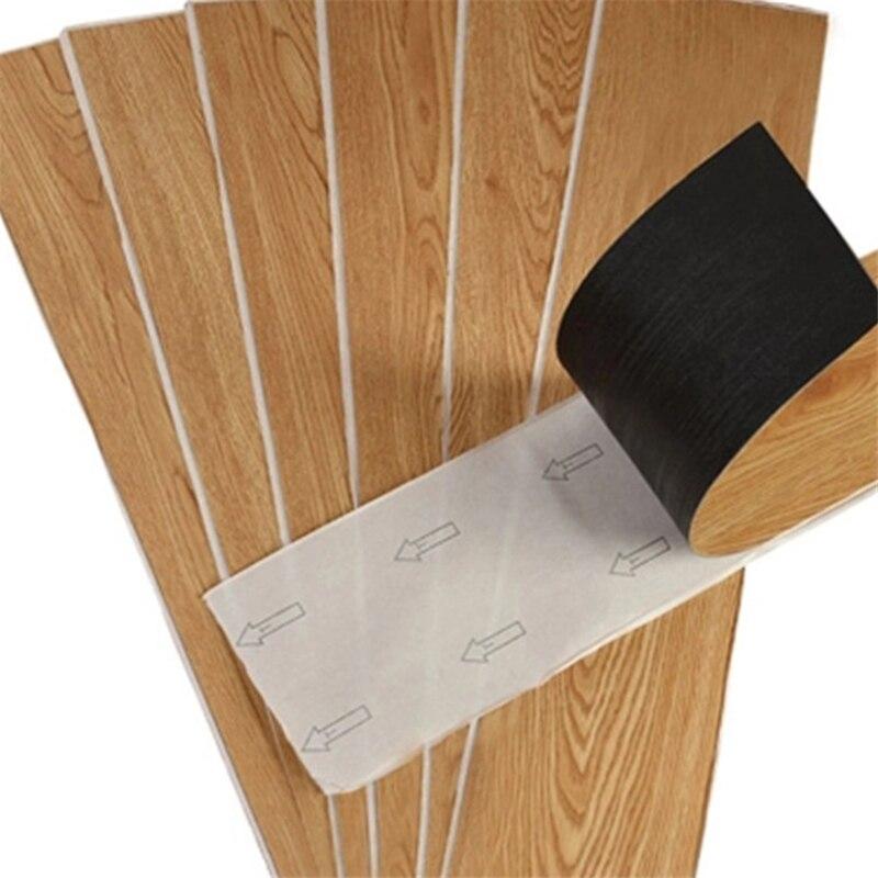 Beibehang Household Pvc Wood Grain Self-adhesive Floor Leather Wear-resistant Thick Plastic Floor Glue-free Stone Plastic Floor