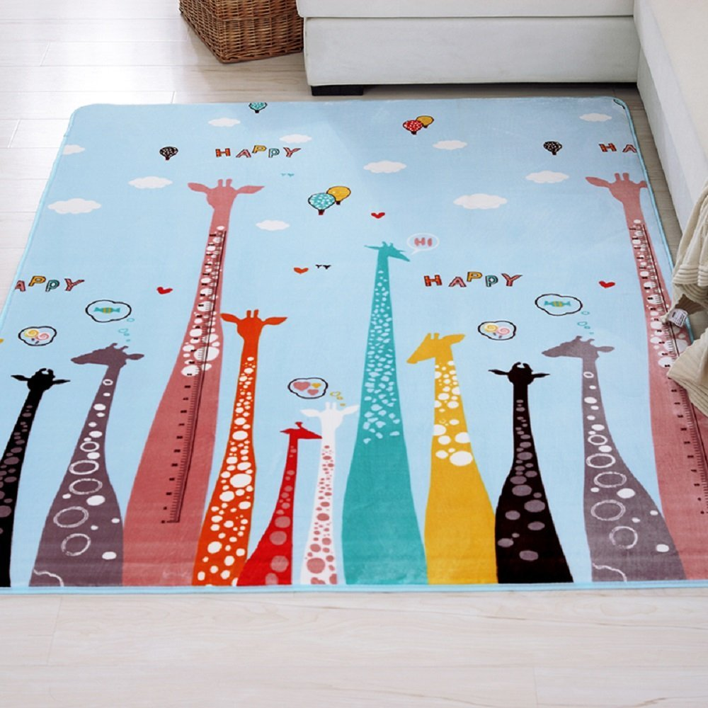 Tapis de bande dessinée mignon enfants flanelle bébé tapis de sol doux enfants tapis de jeu de route