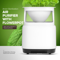 Portable Air Purifier Ozone Air Cleaner Sterilizer Flowerpot Anion Ionizer Generator Disinfection Bacteria for Home RU/US Plug