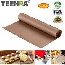 TEENRA 60x40 см многоразовый коврик для выпечки тефлоновый противень жаростойкий коврик для гриля барбекю антипригарный коврик для торта инструменты для выпечки