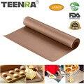 TEENRA 60x40 см многоразовый коврик для выпечки тефлоновый противень жаростойкий Гриль коврик для барбекю антипригарный коврик для торта инстру...