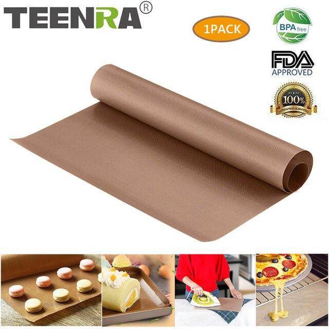 TEENRA 60x40 cm Herbruikbare Bakken Mat Teflon Bakplaat hittebestendige Grill Mat BBQ non-stick cake Mat Ove Gereedschap Bakvormen
