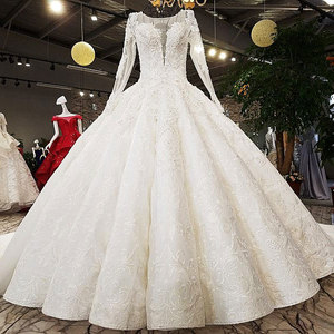 Image 4 - AIJINGYU Sheer Wedding Dress Informal Bridal Gowns Coutures Sew engagement With Jewels For Sale Luxury Wedding Dresses Near Me