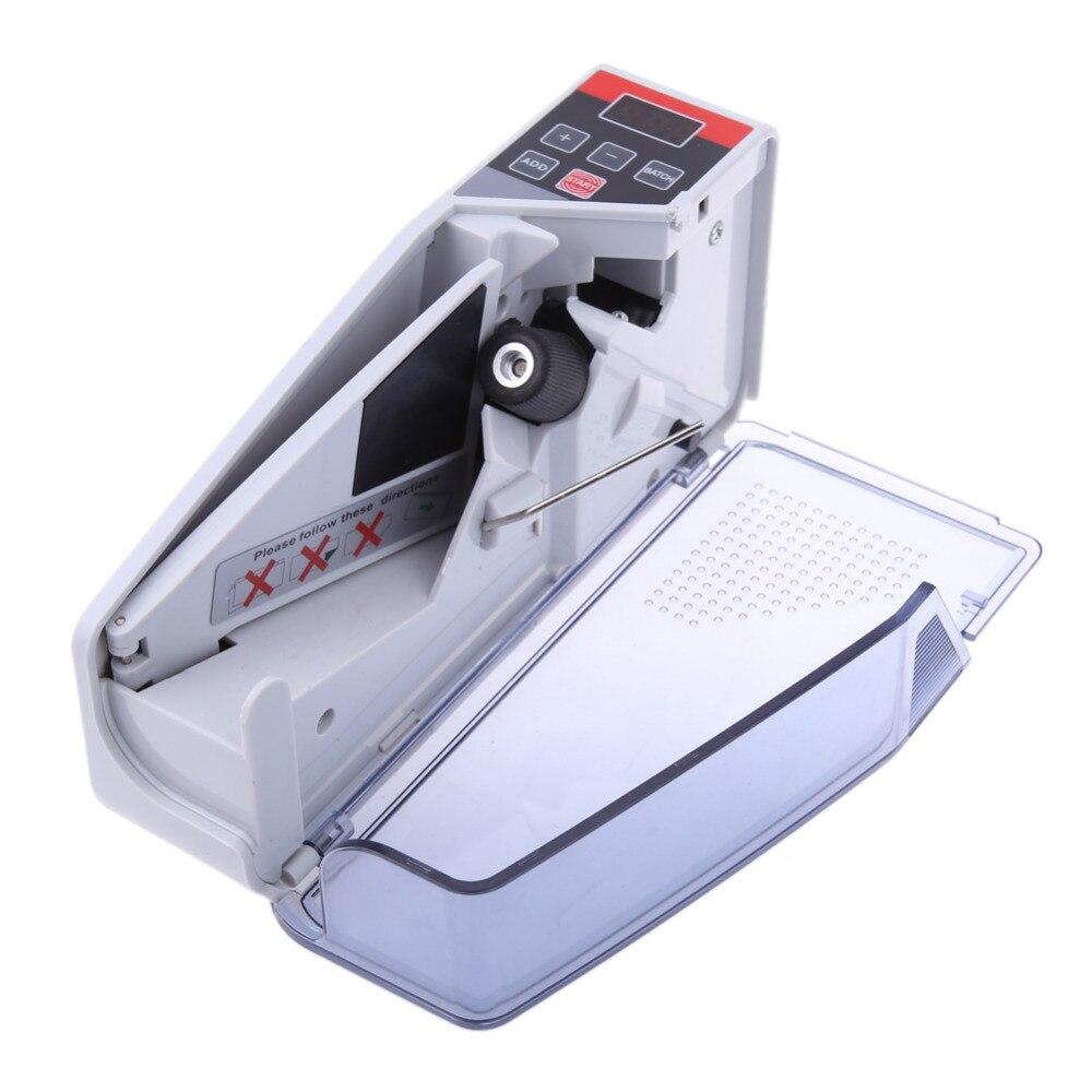 Mini portable práctico de dinero para la mayoría de divisas nota Bill máquina para contar dinero EU-V40 equipo financiero