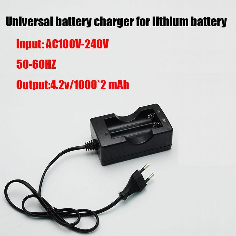 KingWei NK-809 18650 3.7 v chargeur de batterie Double Li-ion chargeur rapide de batterie avec câble
