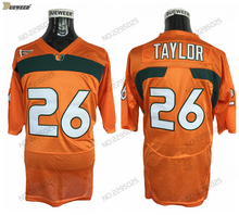 a0b6a3310 DUEWEER Mens Vintage Miami Hurricanes Sean Taylor College Football Jerseys  Orange Cheap  26 Sean Taylor