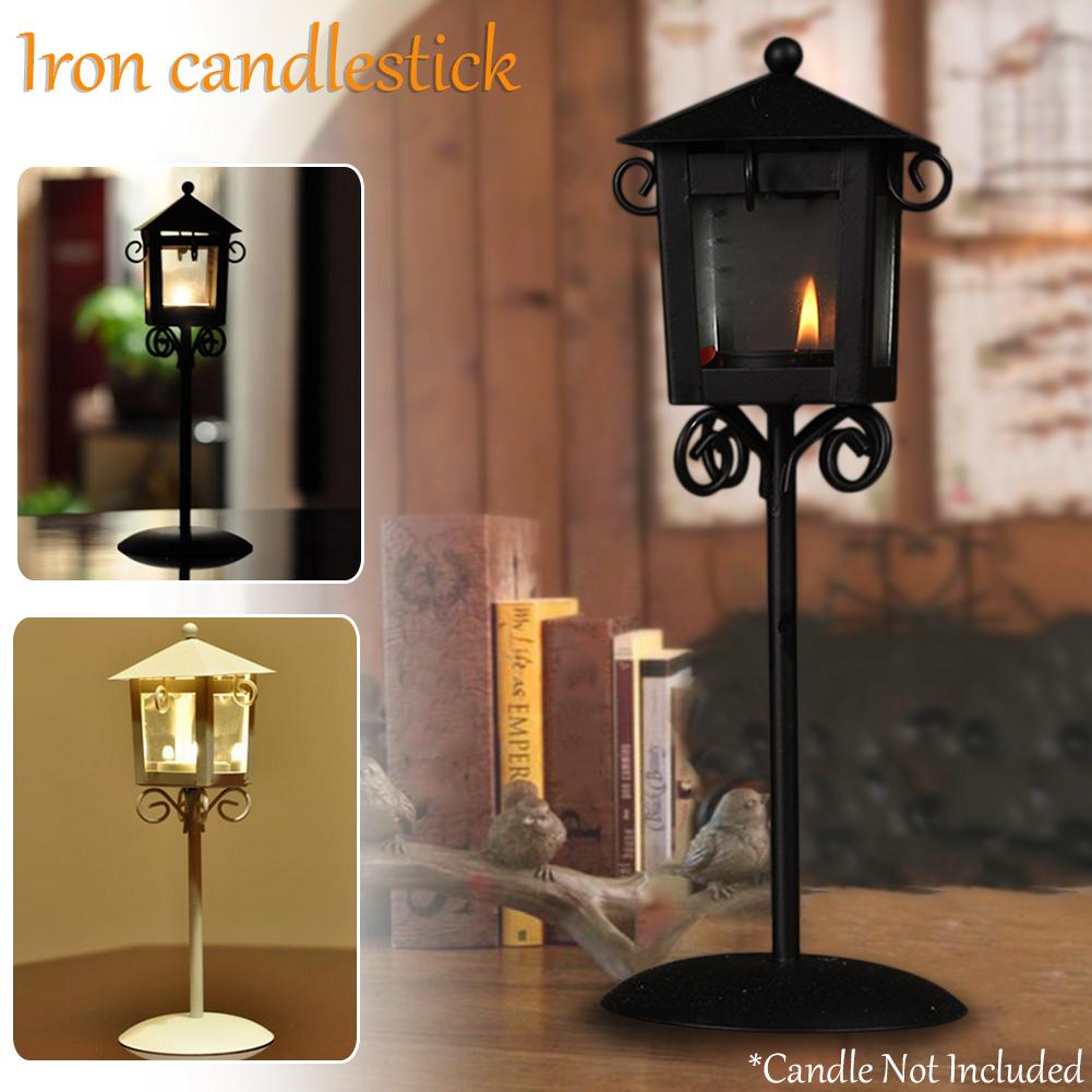 Vintage Iron Candlestick Street Lamp Floor Lamp European Furniture Artware Decorations