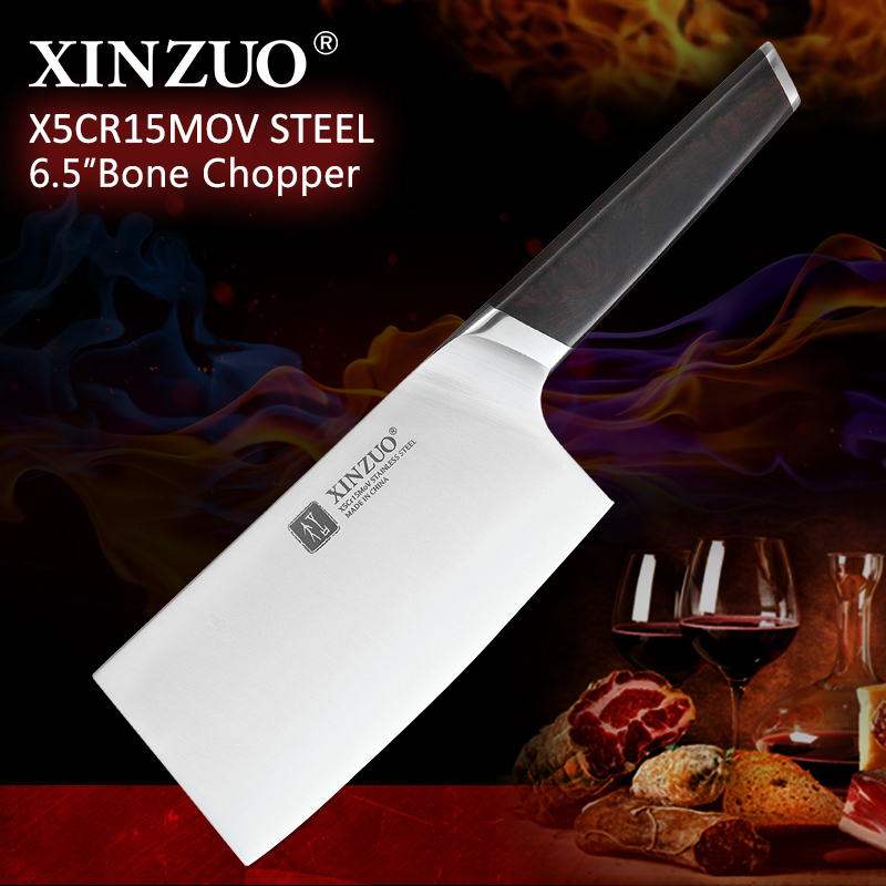 XINZUO 6 5 Butcher s Knife X5Cr15Mov Stainless Steel Chinese Kitchen Knives Cleaver Meat Bone Chopper