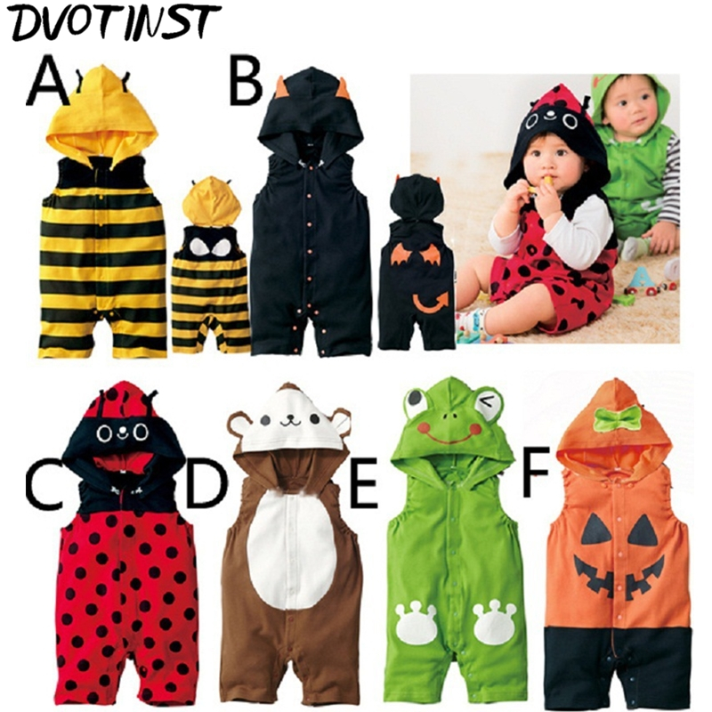 Baby Boys Girls Animals Bee Pumpkin Ladybuy Halloween Cosplay Outfits Playsuit Kids Infantil Toddler Jumpsuit Clothing Costume baby rompers one piece newborn toddler outfits baby boys clothes little girl jumpsuit kids costume baby clothing roupas infantil