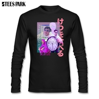 Vaporwave Filthy Frank T Shirt Men Autumn 100% Cotton Long Sleeve T shirt Adult Clothing Top Printed Camisetas For Male