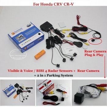 For Honda CRV CR-V Car HD Sensor Sensors Reverse Rearview Back Up Camera Auto Alarm Parking System