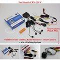 For Honda CRV CR-V - Car Parking Sensors + Rear View Back Up Camera = 2 in 1 Visual / BIBI Alarm Parking System