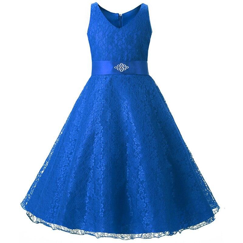 Girls Dress Lace Flower Dress for Girls Formal Princess Pageant Wedding Vestido De Festa Kids Birthday Party Dress цена