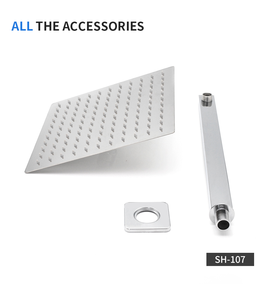 8//10//1216 inch Large Rainfall Shower Head Round Square Ceiling Shower Heads