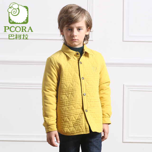 a19b86d45 PCORA Boys Coats Kids Jacket for Boy Fall Jackets Mustard Green ...