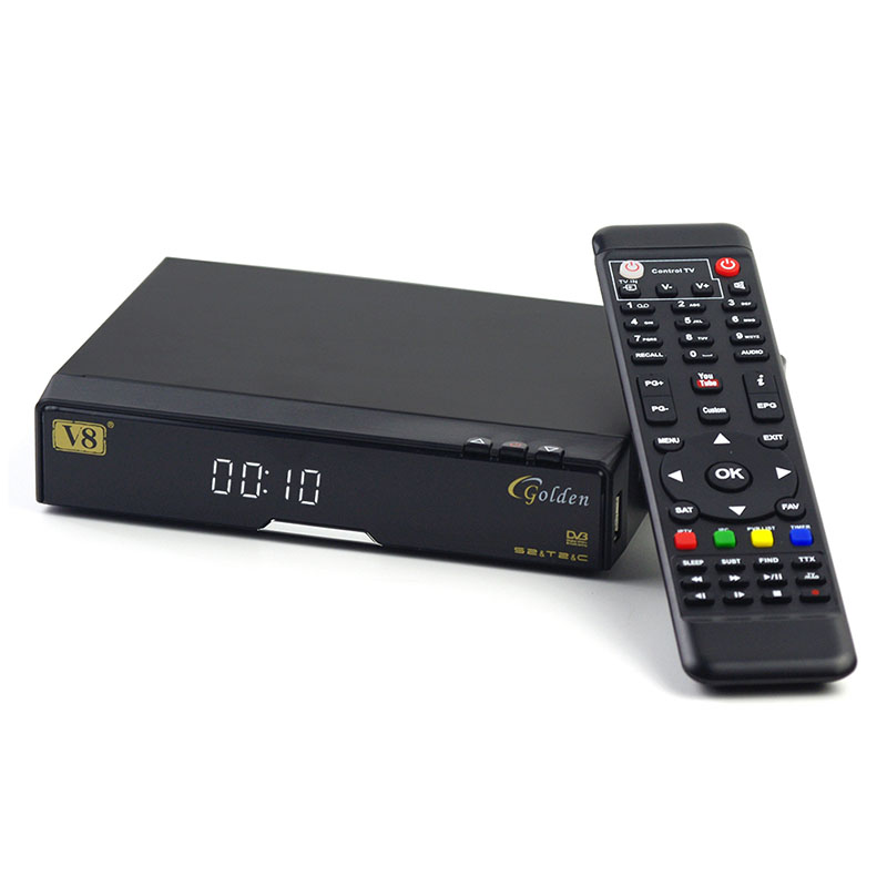 ФОТО openbox V8 Golden+wifi adapter DVB-S2/T2/C Satellite Cable Receiver v8 golden IPTV Youtube cam cline replace openbox v8 pro