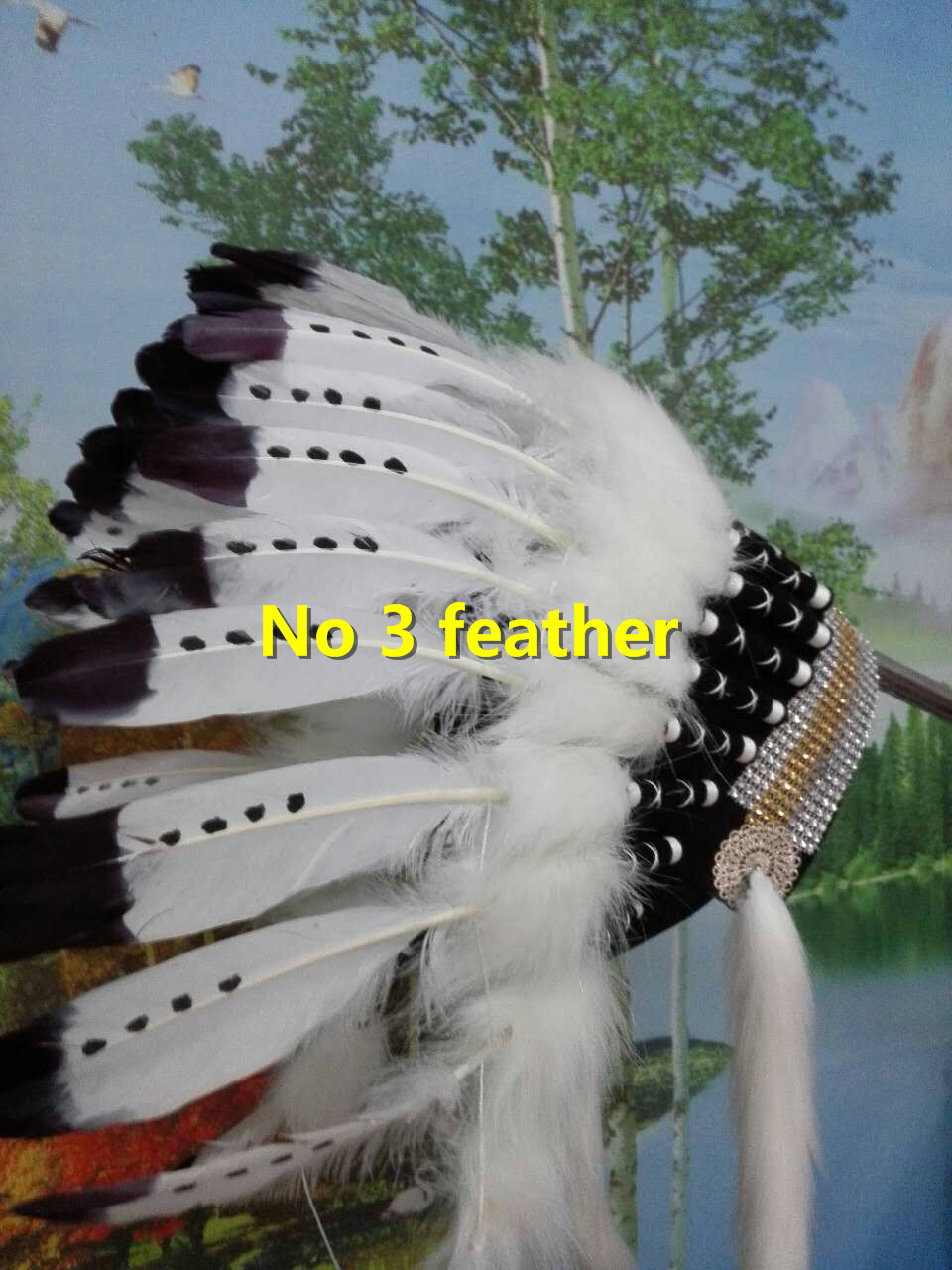 21inch feather Headdress headpiece for halloween costume supply feather headband for party costume dancewear