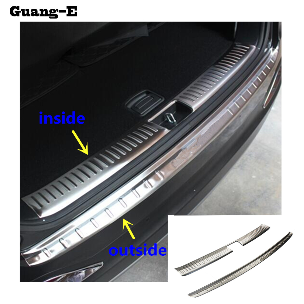 Car Stainless Steel Rear Bumper Tailgate Pedal Strip Trim Plate Lamp Threshold Truck Hoods For Kia Sorento L 2015 2016 2017|rear bumper trim|bumper trim|stainless steel trims - title=