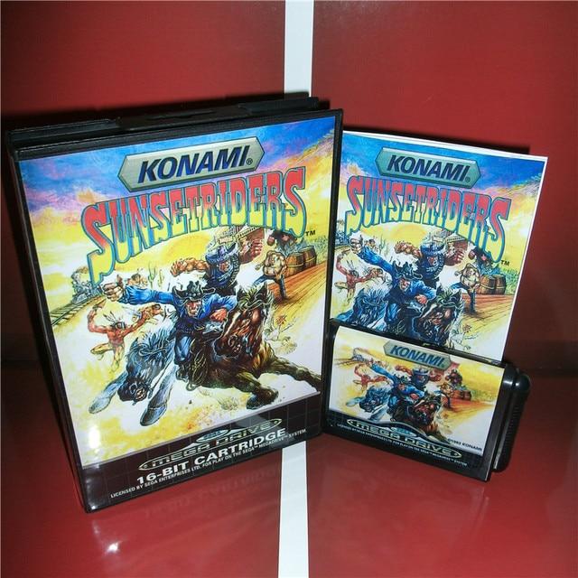 sunset riders eu cover with box and manual for sega megadrive rh aliexpress com Disney Video Games Manuals Game Manual PDF