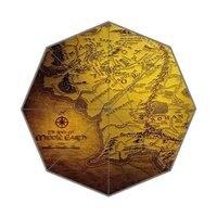 Personalizado Top Quality Fantástico o senhor dos anel mapa 43.4 polegada Automático 3 Fold Umbrellas Bom Presente Para O Aniversário do Amigo