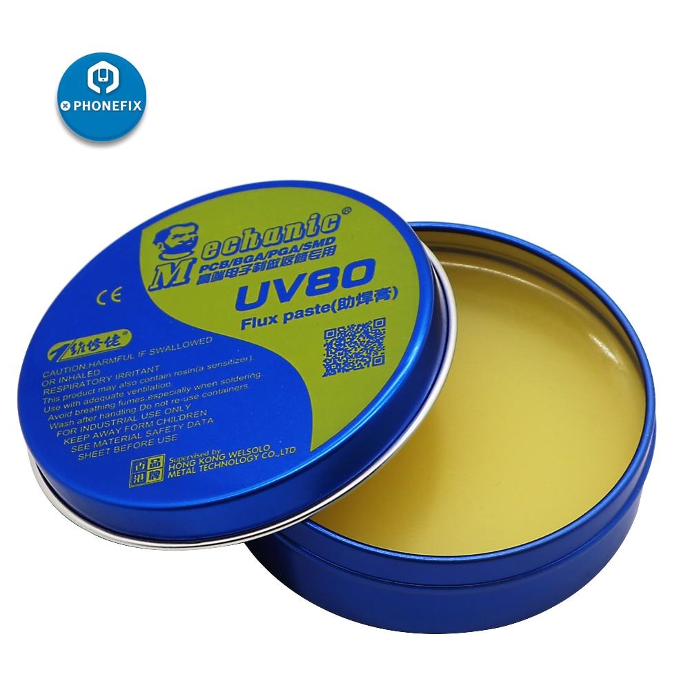 Mechanic  MCN-UV80 UV50 High Synthetic BGA Solder Flux Paste BGA Soldering Tin Cream For Mobile Phone PCB BGA SMD PGA Repair