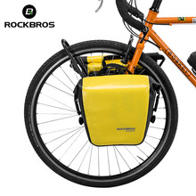 ROCKBROS Bike Bag Bicycle Panniers 100% Full Waterproof Large Pockets Carrying Handle Reflective Trim Cycling MTB Trunk Bag(China)