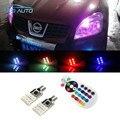 Para Nissan Juke Qashqai Tiida Nota Primera Almera X-trail Pathfinder Patrol Sentra RGB T10 W5W Estacionamento Luz Lâmpada de apuramento