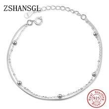 New 925 Silver Double-deck Bracelet & Bangle Adjustable Muje