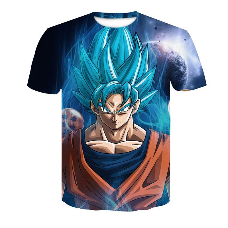Super Saiyan 3D t shirt Anime Dragon Ball Z Goku Summer Fashion Tee Tops Men/Boy Master Roshi Print Clothes Cartoon T-shirt 2018