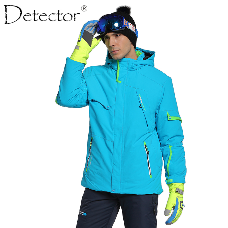 Detector New Men Ski Snowboard Jacket Waterproof Windproof Hiking Camping Outdoor Jacket Winter Clothes Outerwear 2017 new brand outdoor softshell jacket men hiking jacket winter coat waterproof windproof thermal jacket for hiking camping ski