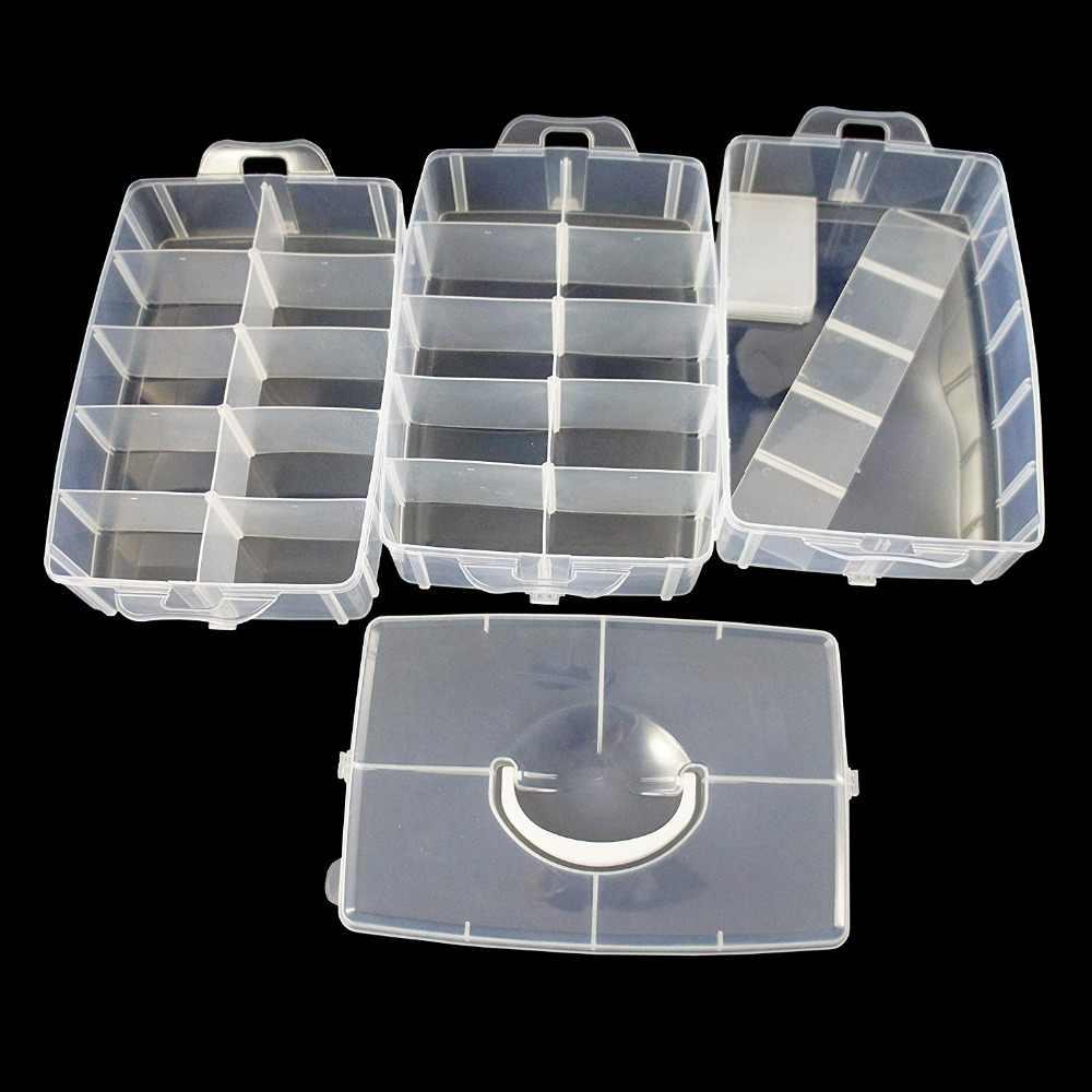 大収納容器 30 調節可能なコンパートメント容器スレッド縫製刺繍アクセサリーボビン格納するビーズ
