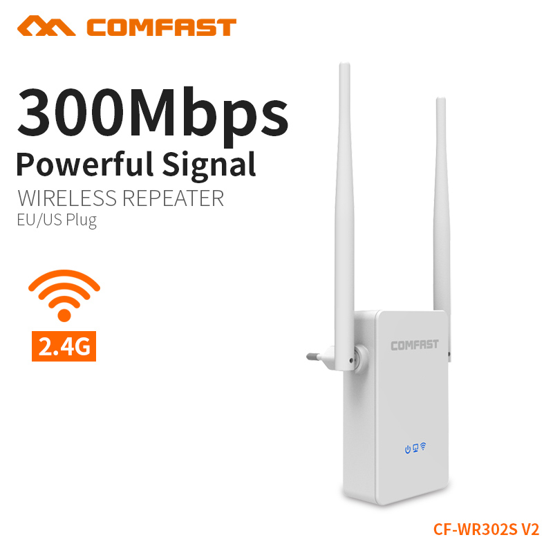 COMFAST Wireless Wifi Repeater 300Mbps 802.11n/b/g Network Wifi Extender Signal Amplifier Signal Booster Repetidor CF-WR302S V2 easyidea wireless wifi repeater 300mbps network antenna wifi extender signal amplifier 802 11n b g signal booster repetidor wifi